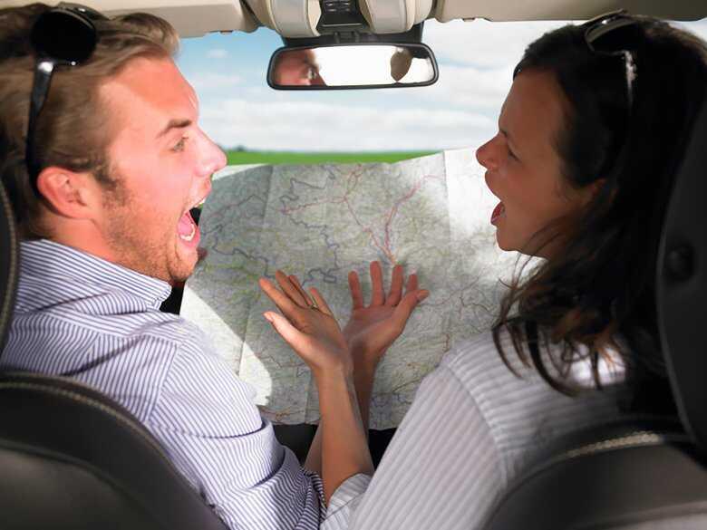 Kłótnia podczas podróży samochodem