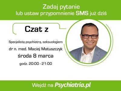 Czat z lekarzem psychiatrą 8 marca 2017