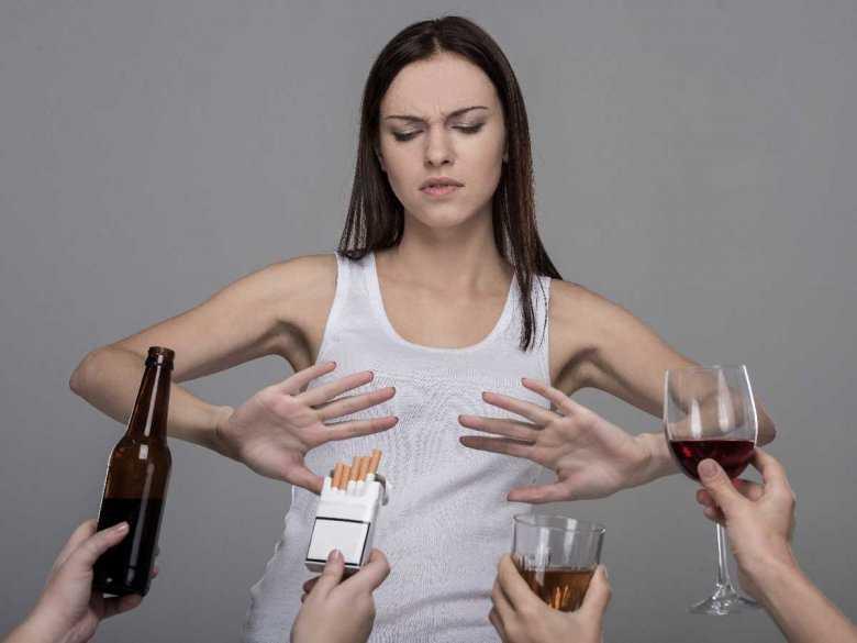 Utrudnione rzucanie picia i palenia papierosów