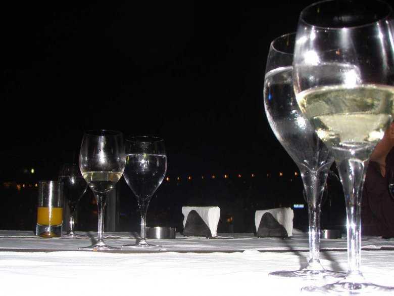 Wino, kieliszki
