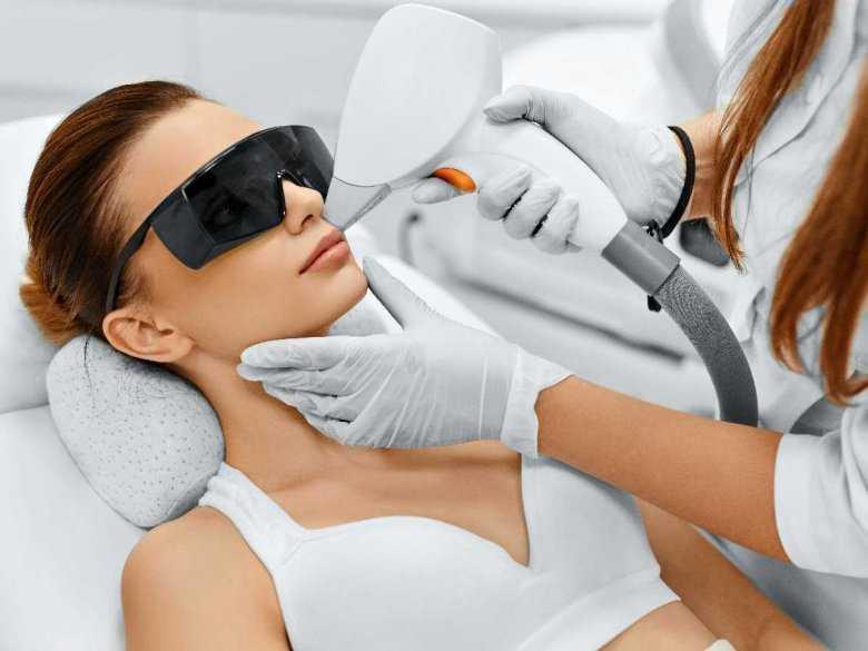 Zabieg laserowy na twarz