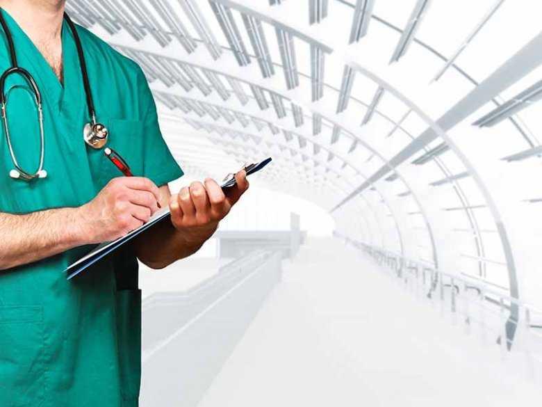 Lekarz w pracy, opieka zdrowia