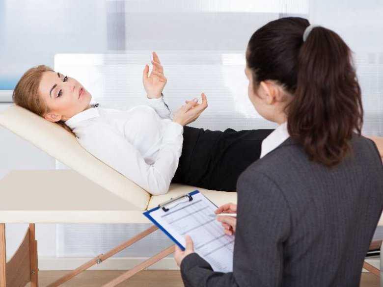 Pacjent w gabinecie psychologa