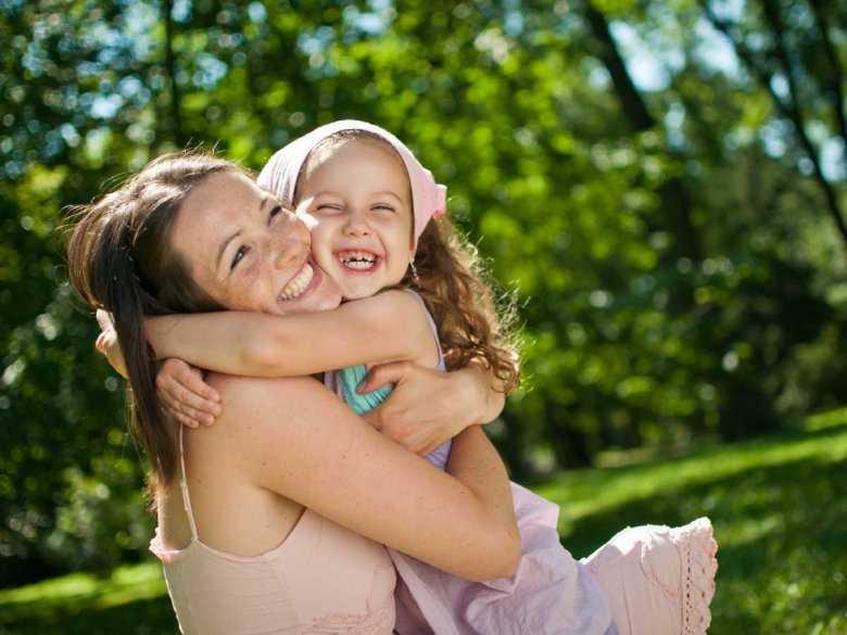 Radość matki i córki