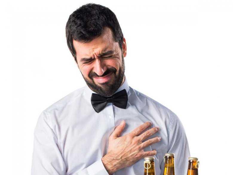 Ból w okolicy serca u mężczyzny