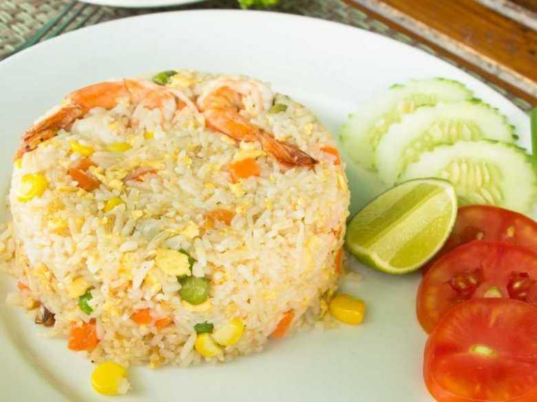 Ryż z krewetkami i warzywami