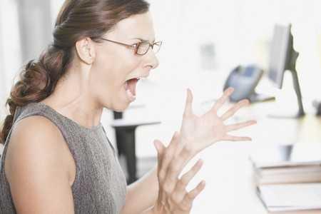 Złość, zdenerwowanie, krzyk