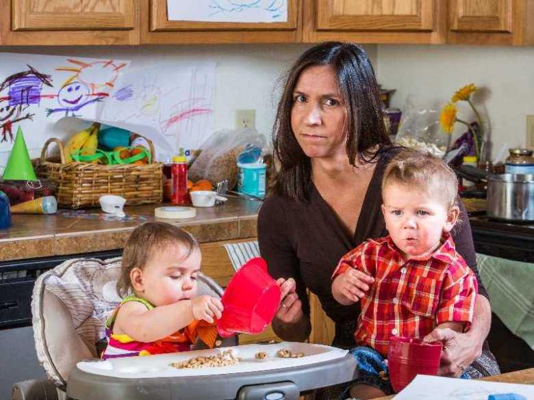 Zmęczenie u kobiety wychowującej dzieci