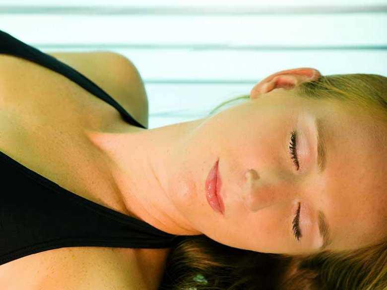 Oparzenia skóry po korzystaniu z solarium