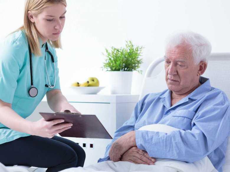 Pacjent w szpitalu, diagnoza lekarska