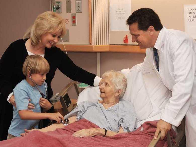 Odwiedziny w szpitalu