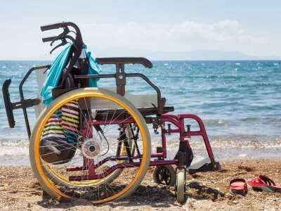 Osoba niepełnosprawna na wakacjach