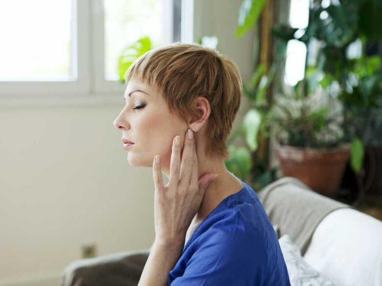 Ból węzłów chłonnych pod żuchwą