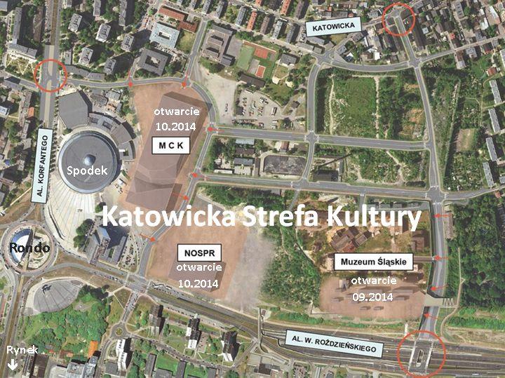 Zjazd Psychiatrów Polskich Katowice 2016 - mapa Katowic